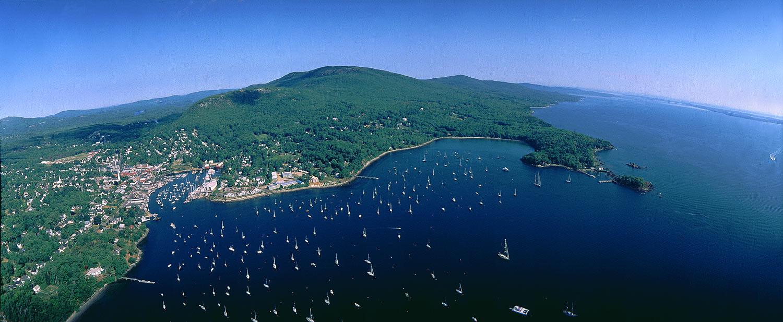 Camden Harbor Aerial