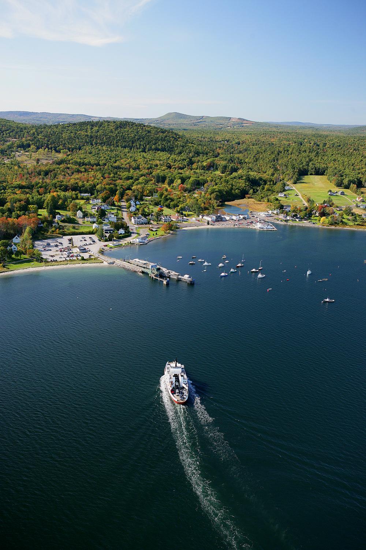 Lincolnville Beach Maine and the Islesboro Island ferry