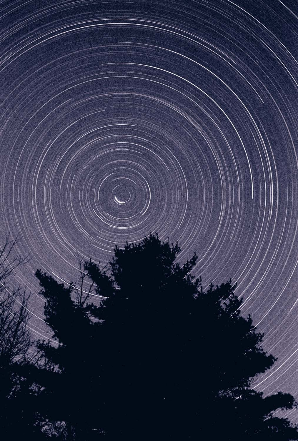 North Star Time exposure on the Vernal Equinox